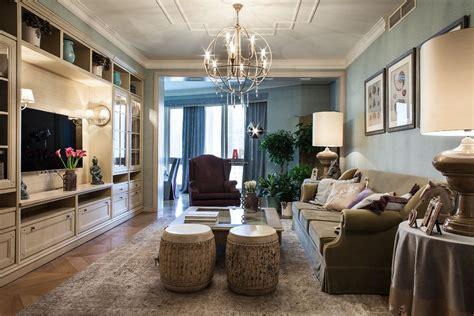 amerikanischer baustil фото интерьера гостиной квартиры в стиле фьюжн