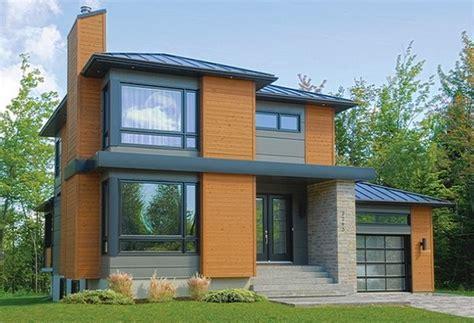 Modern Contemporary House Plans by Plano De Casa De Dos Pisos Con Garage Lateral