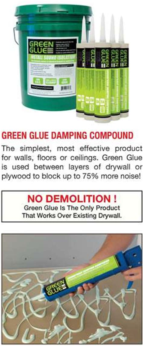 green glue for soundproofing a room in nj ny kuiken