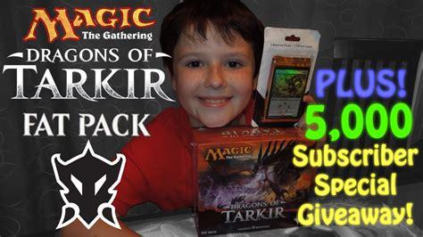 Magic Fatpack Dragons Of Tarkir dragons of tarkir pack opening 5 000 subscriber giveaway mtg edition