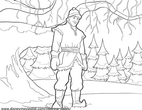 frozen coloring pages kristoff kristoff coloring page anna and kristoff photo 36145898