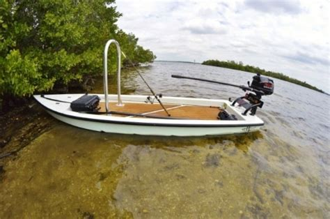 skiff boat small trailering skiff with small outboard microskiff