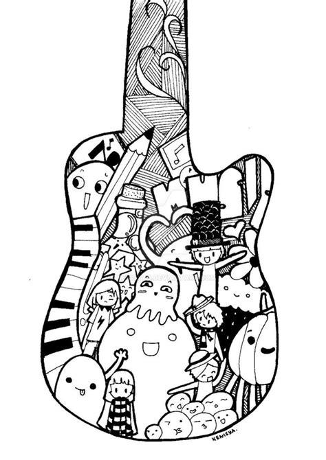 doodle guitar guitar doodle by kenisya9 on deviantart