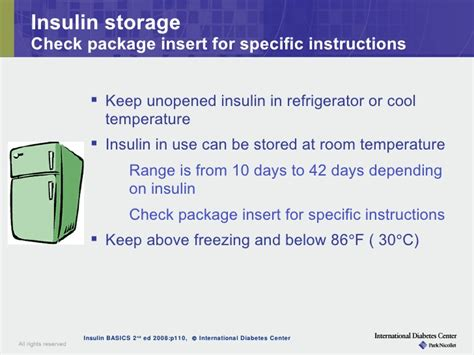 how can insulin be stored at room temperature module ii insulin therapy