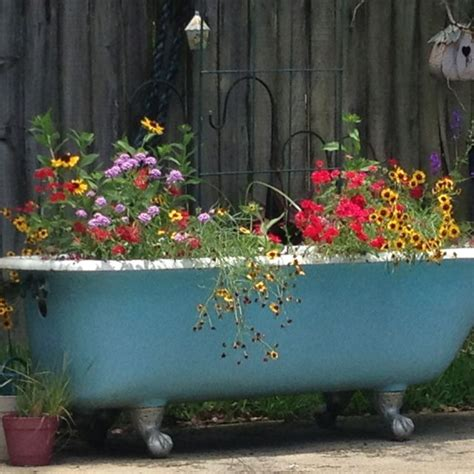 bathtub planters pin by peggy finney cox on projects pinterest