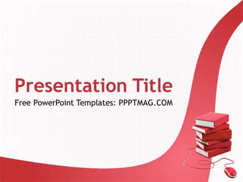 free online learning powerpoint template pptmag