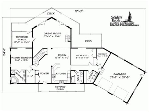 water front house plans golden eagle log and timber homes floor plan details