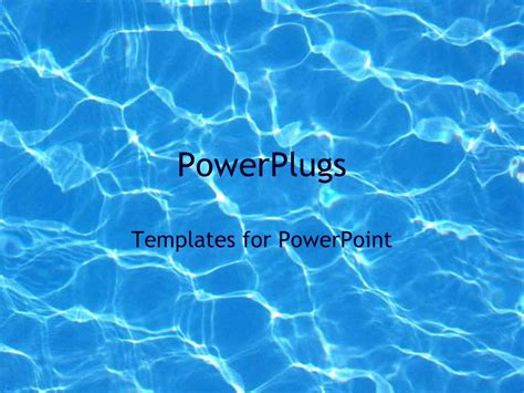Powerpoint Template Blue Water Reflections In Pool Summer Swimming 29876 Microsoft Powerpoint Templates Water
