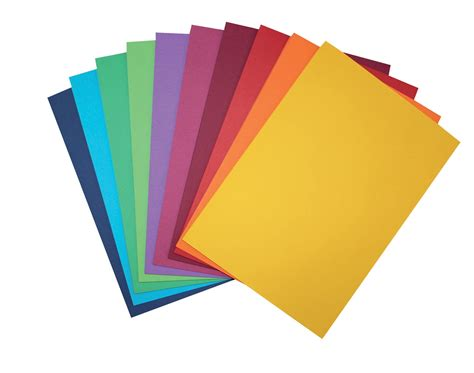colorful paper coloured card 10 assorted colours 200gsm card