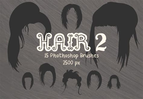 Hairstyle Photoshop Brushes by Hair Photoshop Brushes 2 Free Photoshop Brushes At