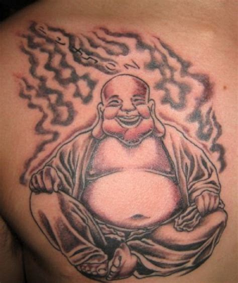 laughing buddha tattoo 20 spiritual and stunning buddhist designs