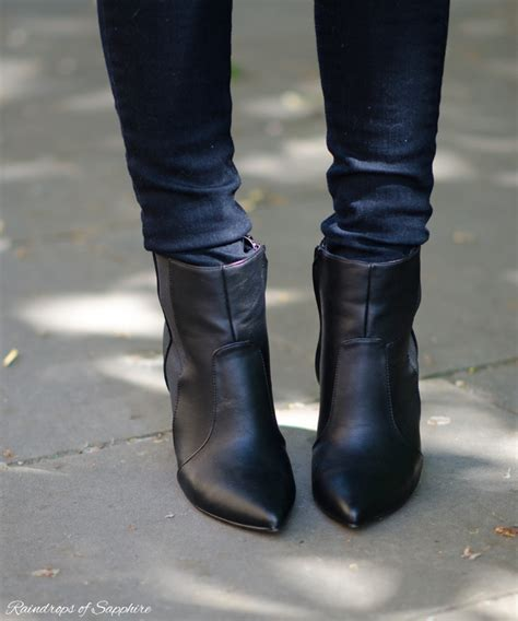new look black ankle boots raindrops of sapphire