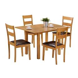 4 Chair Dining Set Extending Dining Table With 4 Chairs Colorado 60cm 120cm Set Faux Leather Ebay