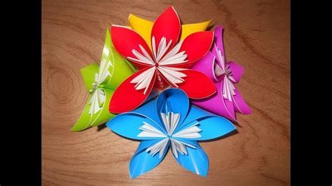 cara membuat bunga dari kertas lipat youtube origami cara membuat hiasan bunga dari kertas lipat