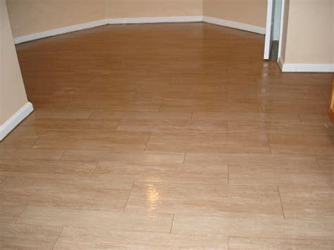 Wood tile kitchen floor   New Jersey Custom Tile