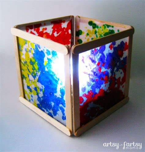 Wax Paper Crafts - diy wax paper lantern artsy fartsy
