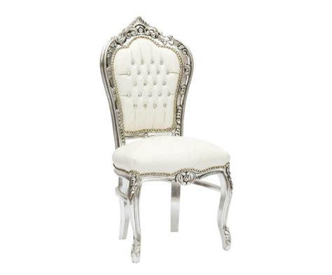 sedie barocco eshop sedia barocco argento e in legno gemme