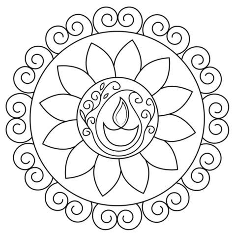 rangoli patterns coloring pages diwali rangoli coloring page free printable coloring pages