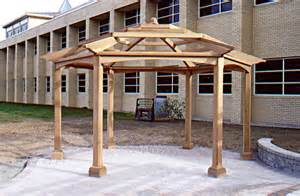 Hexagonal Pergola Designs by Hexagonal Pergola By Trellis Structures