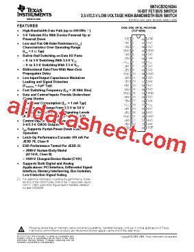 Dggr Co sn74cb3q16244dggr 데이터시트 pdf instruments