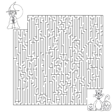 printable halloween maze difficult 5 best images of printable halloween mazes and puzzles