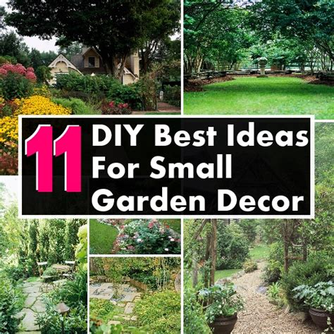 Small Garden Decor Ideas 11 Diy Ideas For Small Garden Decor Diy Home Things