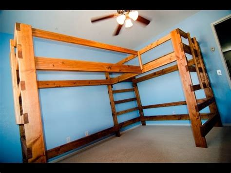 convert bunk bed to loft time lapse sneak peak at turning the dual loft bed into