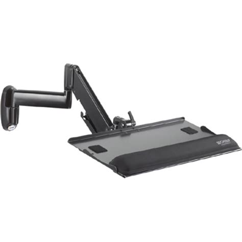 keyboard swing arm chief kwk110b height adjustable keyboard mouse tray wall