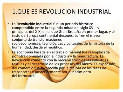 sobre la revolucion trabajo sobre la revolucion industrial