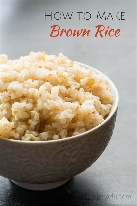 how to make brown rice namely marly