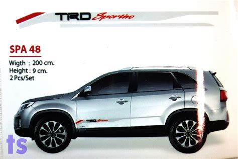 set side door grey sticker quot trd sportivo quot decal for toyota fortuner suv 05 2015 ebay