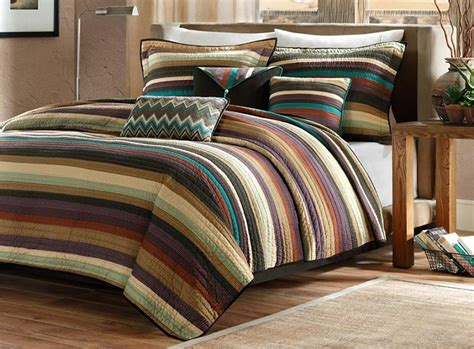 southwestern black browns comforter set queen king size