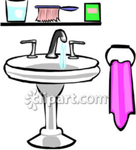 cartoon bathroom sink bath sink clipart