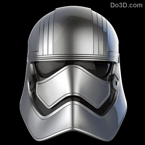 printable star wars helmet 3d printable model captain phasma chrometrooper helmet