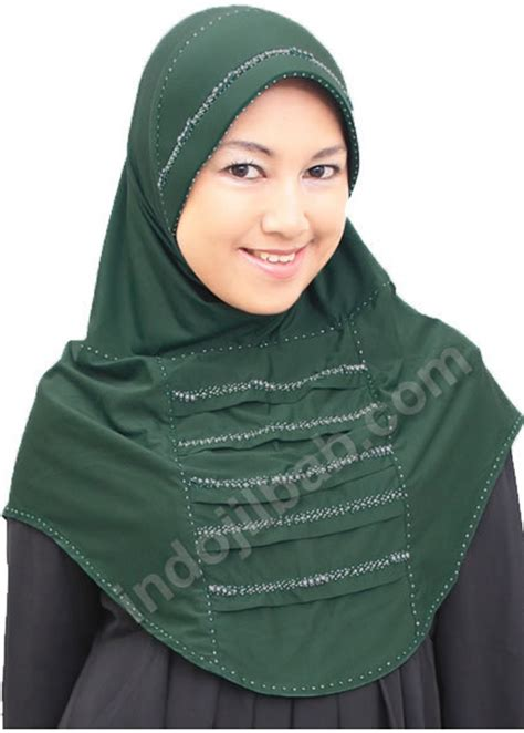 Jilbab Anak Anak Hoodie Mutiara jual amanah collection ivory mutiara hijau 001 harga dan review