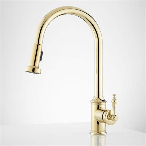 brass kitchen faucets brass and chrome kitchen faucet