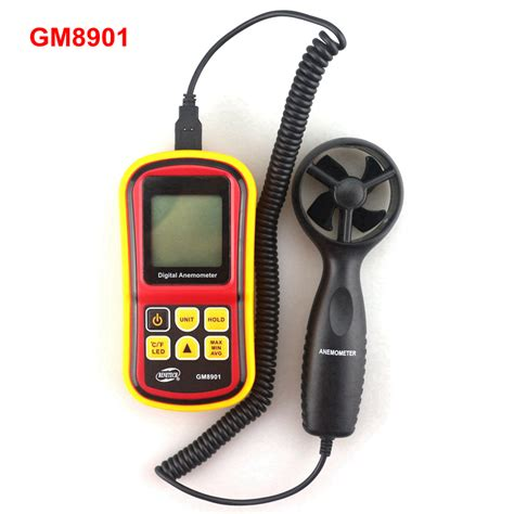 Anemometer Wind Speed Monitor gm8901 handheld digital anemometer 0 45m s wind speed