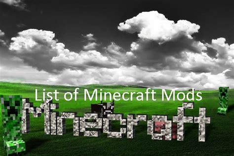 mods in minecraft list minecraft 1 4 2 mods list of minecraft 1 4 2 mods