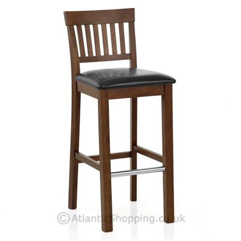 Wooden Breakfast Bar Stool by Grasmere Wooden Oak Faux Leather Kitchen Breakfast