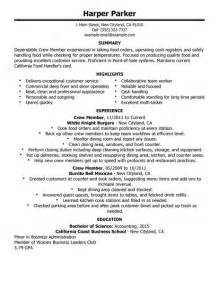Career Objective For Fast Food Gallery For Gt Fast Food Restaurant Manager Resume