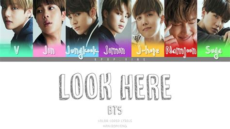 bts 방탄소년단 look here color coded lyrics han rom eng