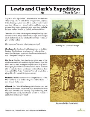 free printable lesson plans on lewis and clark lewis and clark native americans worksheet education com