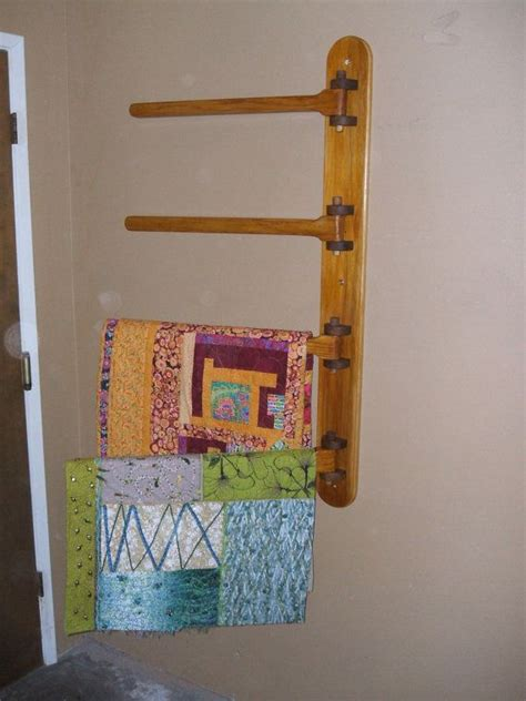 Quilt Hangers For The Wall by Wall Mounted 4 Rung Quilt Hanger