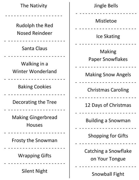 5 best images of printable adult charades words free christmas charades free printable party game charades
