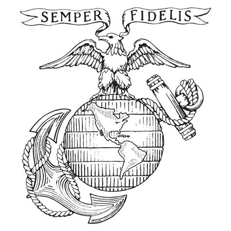 How To Draw Marine Corps Marine Coloring Pages
