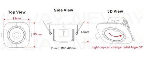 5W 10W 15W 20W Square COB LED Spot Recessed Adjustable Spotlight,Adjustable Recessed Aluminum