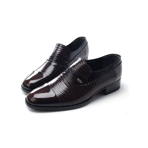 mens dress loafers shoes s tip wrinkles loafers
