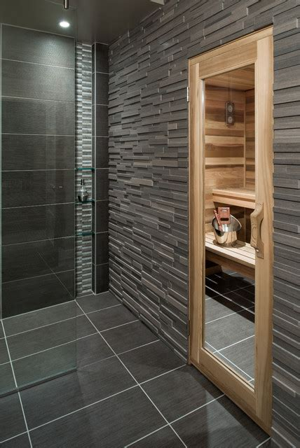 make a sauna in your bathroom basement spa bath and sauna contemporary bathroom