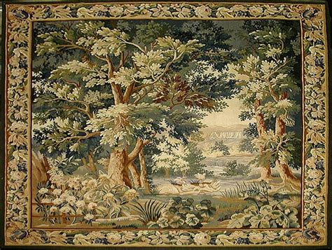 194 loomed tapestry wall hanging or rug lot reproduction of antique verdure tapestry tapestries antiques rugs and