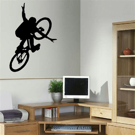 large bedroom wall stickers free shipping bmx bike children art bedroom wall big mural